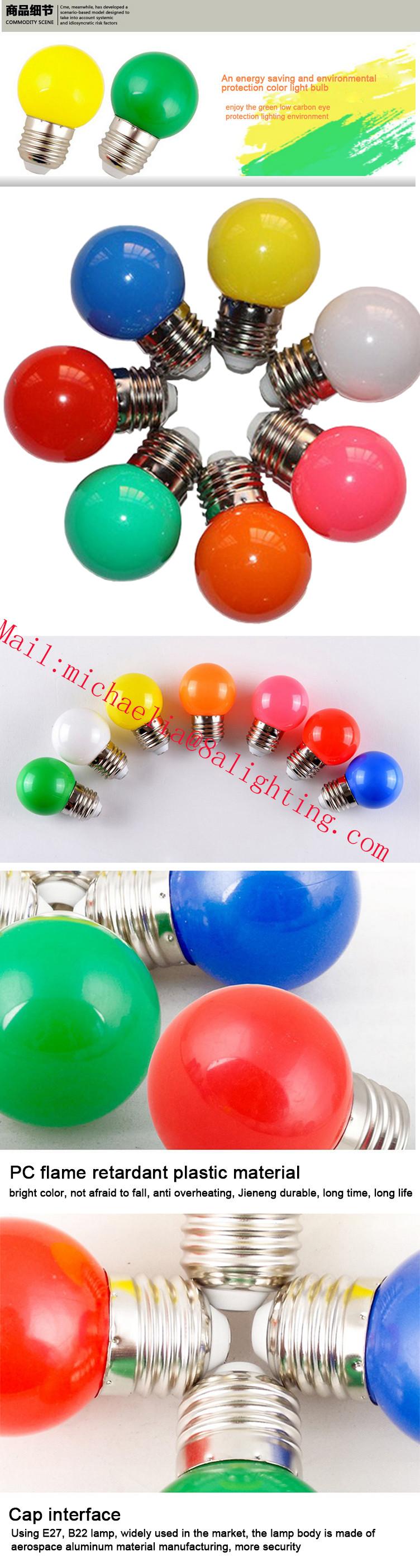 G45 Kleurrijke Led Lamp Mini Decoratieve Kerst Licht Gekleurde Led ...