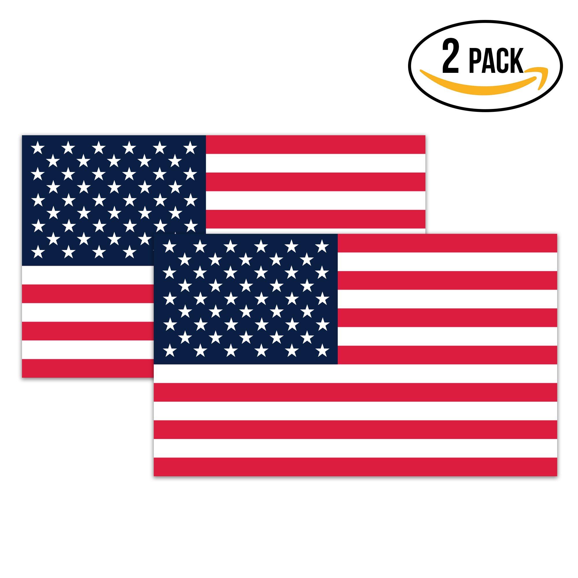 4b38b015f64 Get Quotations · American Flag Hard Hat Stickers - 1.8