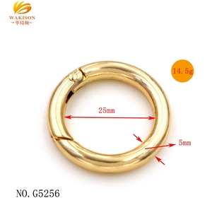 Bag accessories 25MM metal spring ring clasps clip ring