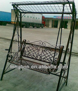 2014 Top Selling Outdoor Wrought Iron Garden Swing Seats Chair Design