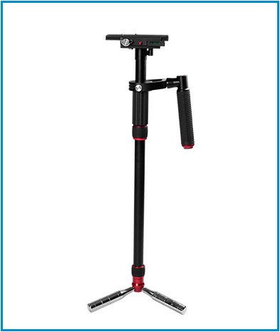 Hot Self-staande Monopod met Fluid Drag Head met quick release plaat Video Camera Voor DSLR Shooting Filmen