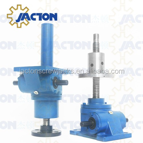 highly efficient and high lead 15 ton precision screw jack with ball screw spindle for ball elevator screw system