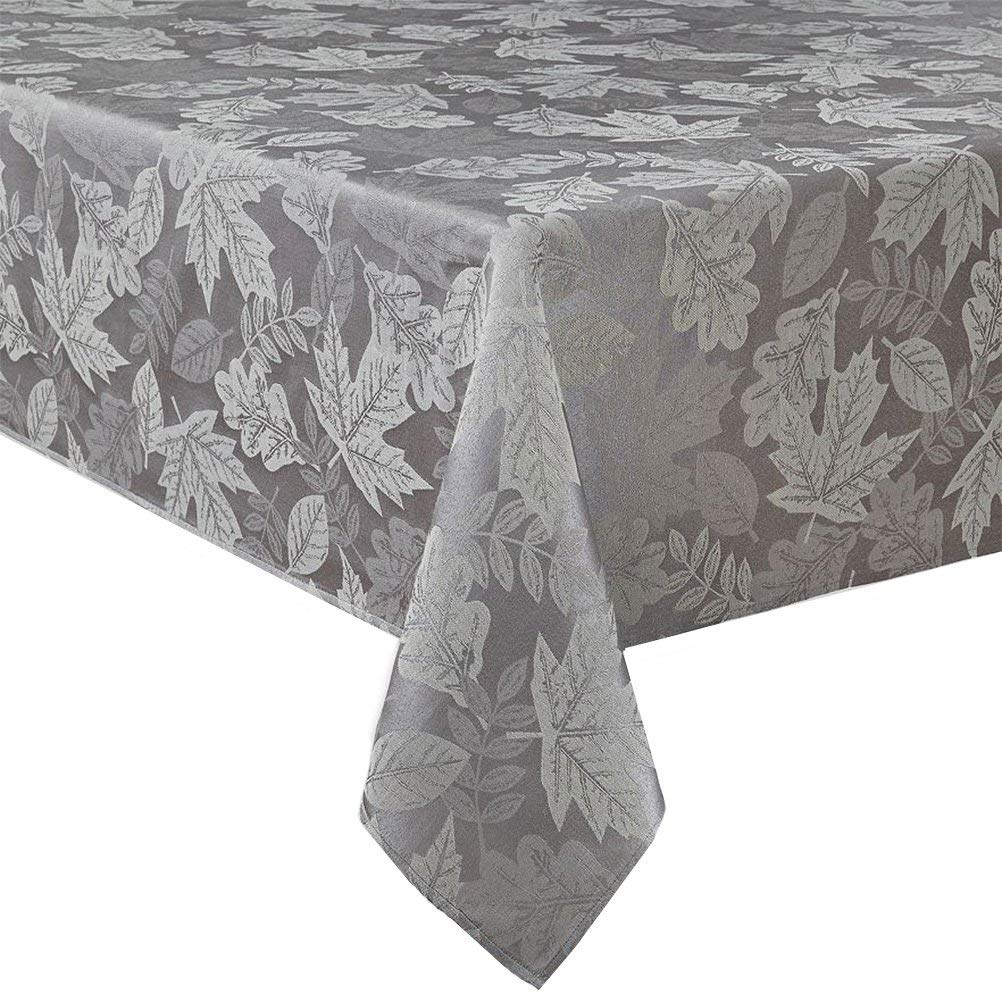 12870baca1c Get Quotations · Autumn Leaf Fall Damask Fabric Tablecloth (60 x 102  Rectangle Oblong