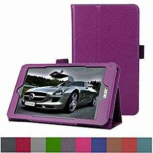 """Acer Iconia One 8 B1-810 / Tab 8 A1-850 Case,Mama Mouth PU Leather Folio 2-folding Stand Cover for 8"""" Acer Iconia One 8 B1-810 / A1-850-13FQ Tablet,Purple"""