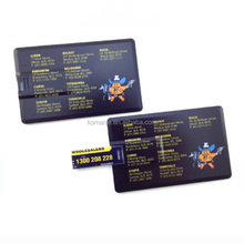 Business credit card shaped USB flash drive 16gb