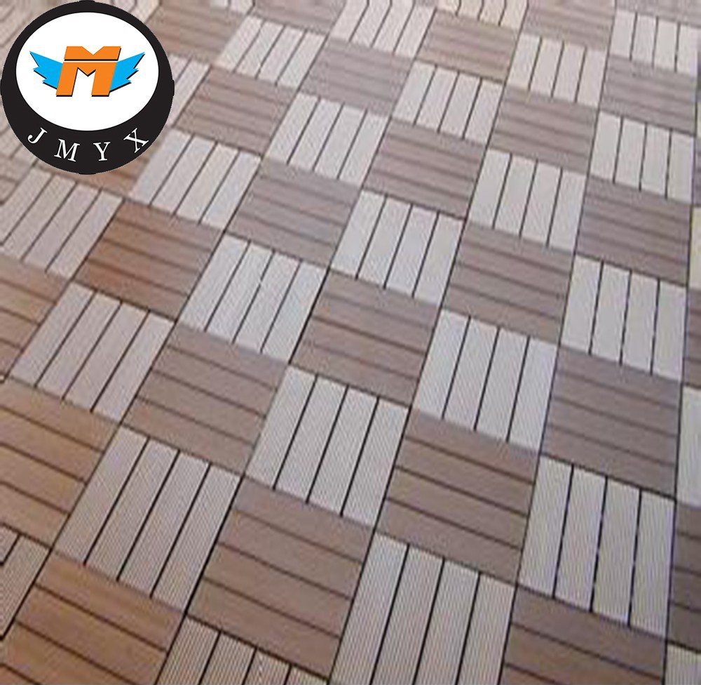 2016 New Material Waterproof Interlock WPC Deck Outdoor DIY Tile Floor in China