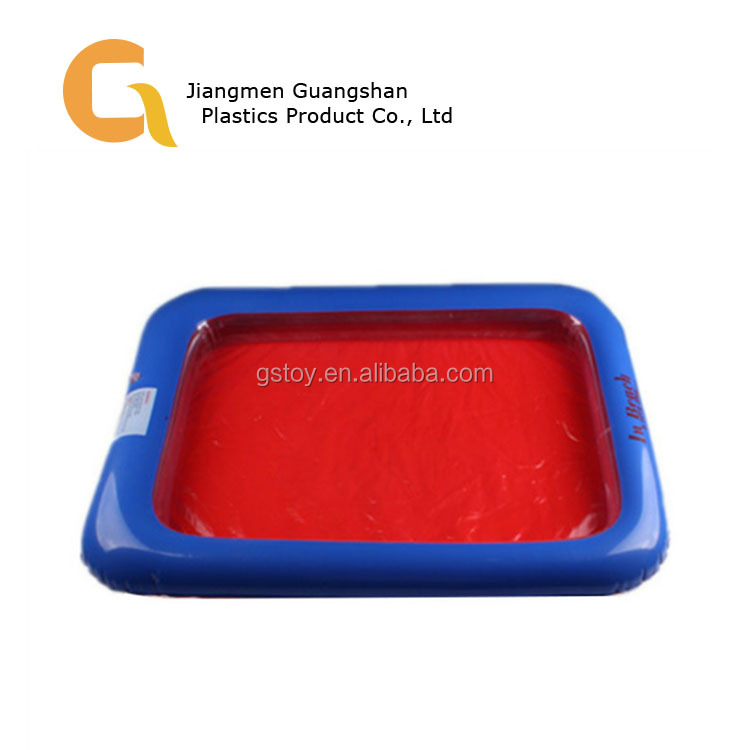 Best sell PVC Colorful Customized size foldable inflatable sand tray