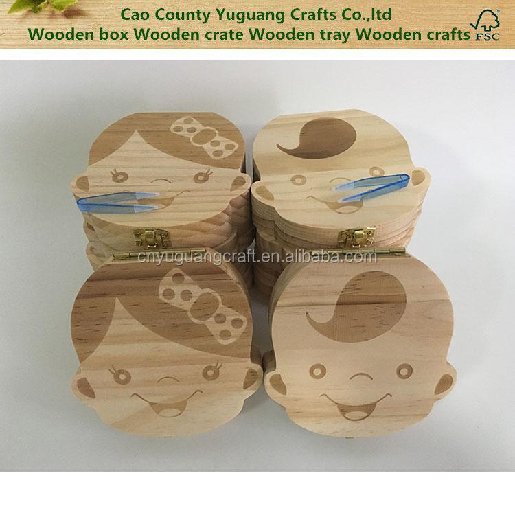 Tooth Box organizer for baby Milk teeth Save Wood storage box for kids Boy&Girl baby keepsake Baby Keepsakes & Announcements