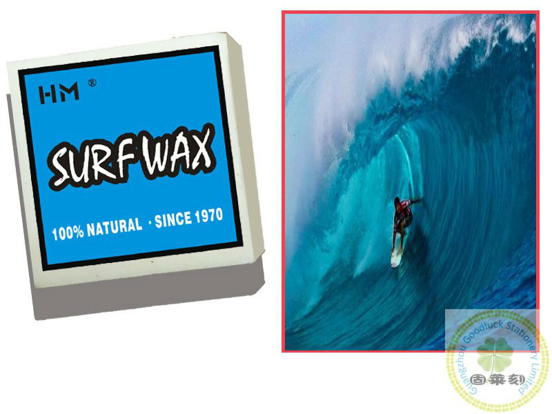 Custom surfboard wax with Logo/Surfing wax warm water