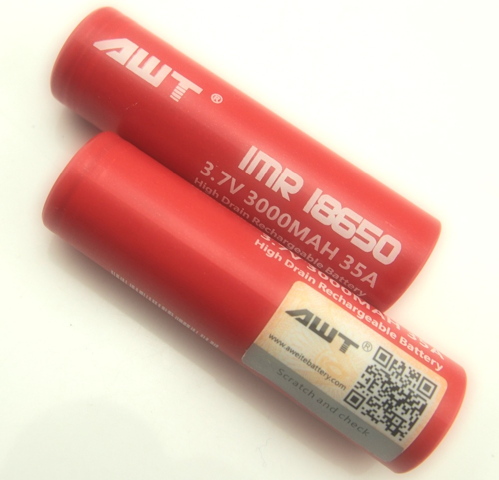 Newst!! China supplier AWT 18650 3000mah 35A 3.7v high capacity lipo 18650 456080 polymer li-ion battery