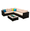 Living Room Sofa The Mateus 7 pc Modular Lounge cheap hotel patio garden lounge furniture