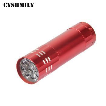CYSHMILY Promotional 9 led customized logo bulk small aluminum mini led keychain torch light