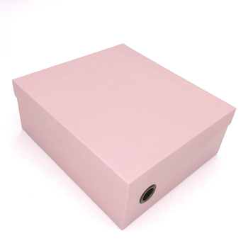 Custom Wholesale Empty Pink Women Retail Shoe Boxes With Eyelet
