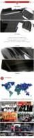 For Mitsubishi Evo 10 Evo X Va Style Glass Fiber Front Bumper+ ...