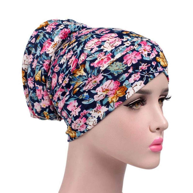 Buy Chemo Cap Womens Soft Printed Beanie Sleep Turban Hat Headwear ... 6a379e628f