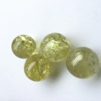 Wholesale Citrine quartz crystal spheres Yellow small crystal balls
