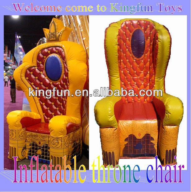 Inflatable Kids Birthday Chair: Partido Inflable Trono Rey Silla Para Niños-Suministros De