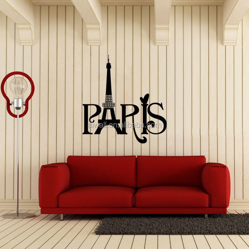 9149 Paris Eiffel Tower Vinyl Decal Removable Wall Sticker 3D Die Cut Mural  Waterproof Home Decor Part 56