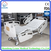 High Quality Medical Equipment 2 Crank Mechanical Hospital Bed,ICU Bed,Adjustable Medical Bed,LSB-M1