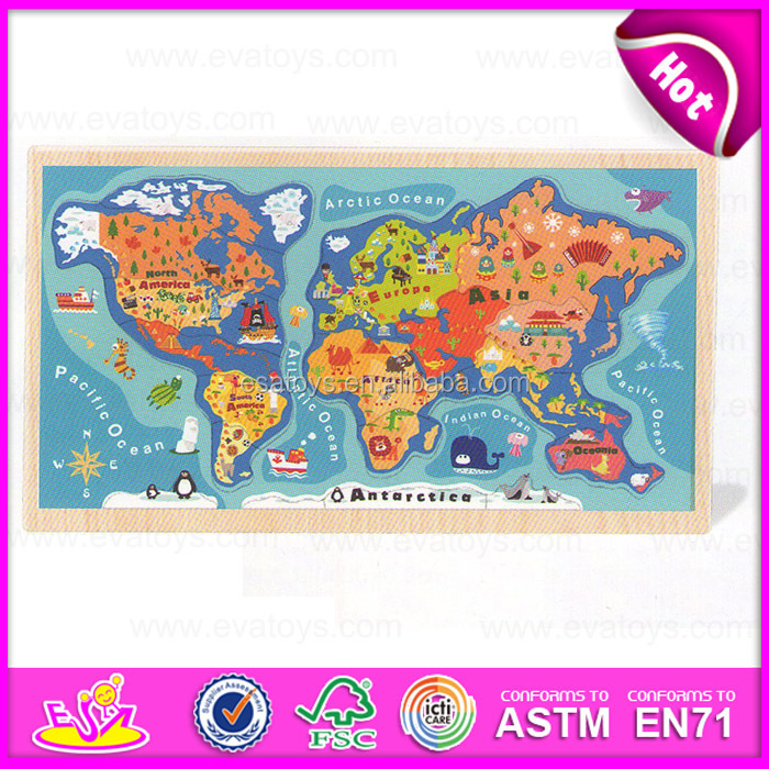 2015 Educational Kids World Map PuzzleChildren Diy Map Jigsaw