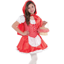 Anak Little Red Riding Hood Kostum Gadis Halloween Fancy Dress Minggu Buku BD218