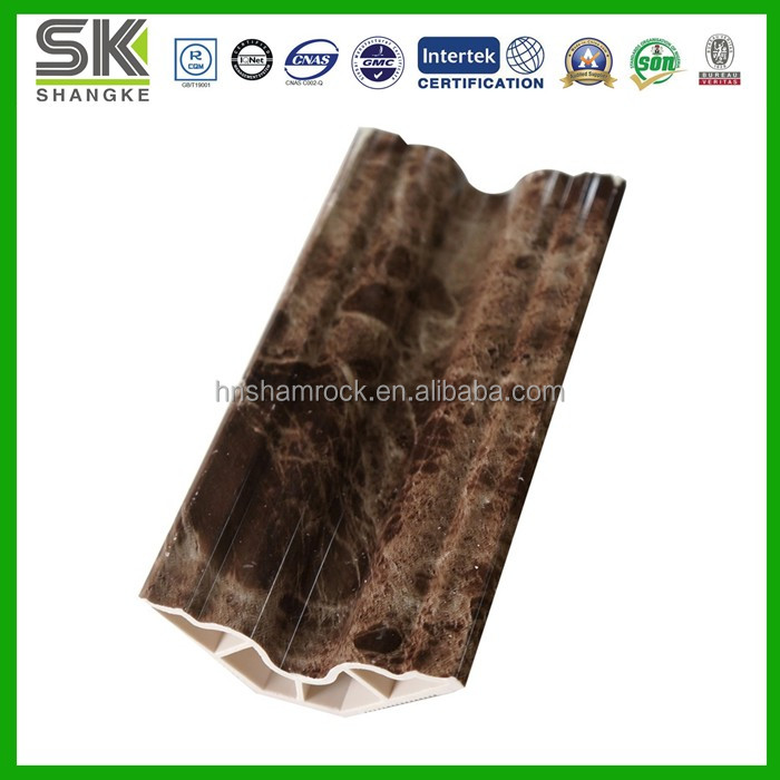 PVC Marble Stone Moulding Plastic Decorated Profile
