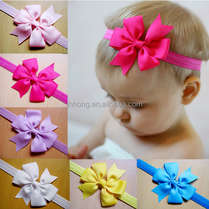 wholesale 20 colors Boutique Hair Bows Toddler Girl Baby Kid Grosgrain Ribbon Headband
