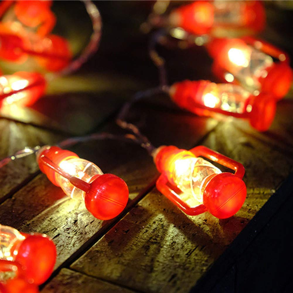 Get Quotations H K L New Cute Mini Lantern String Lights Battery Control Decorative