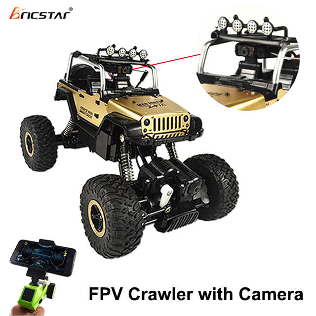 Smartphone Live streaming function rack off road crawler fpv rc car, supports long range wifi spy remote control car