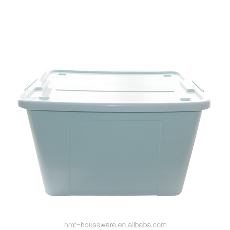 pp wholesale 86L large size heavy duty plastic large waterproof storage boxes with wheels