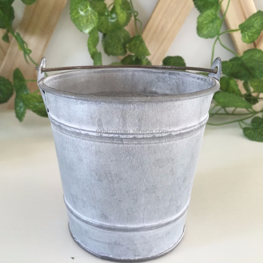 metal flower pots/zinc garden bucket