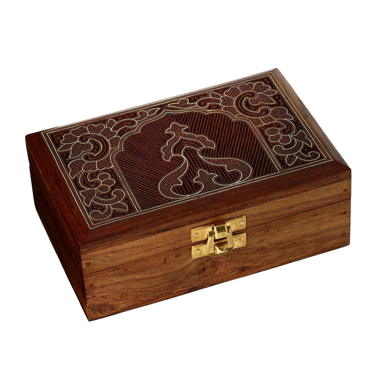 Handmade Jewelry Box Wood Carved Unusual Gifts For Women