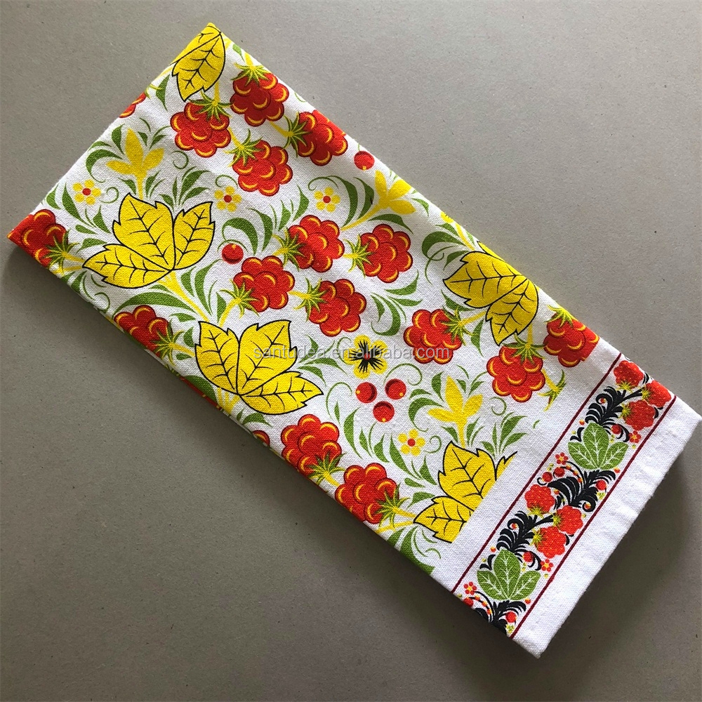 cheapest polycotton customized design dish cloth