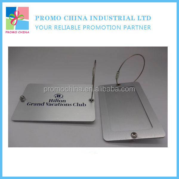 Promotional Aluminum Metal Custom Travel Luggage Tag