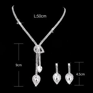 Personal European And American Hot Jewelry Set Crystal High-end Jewellery