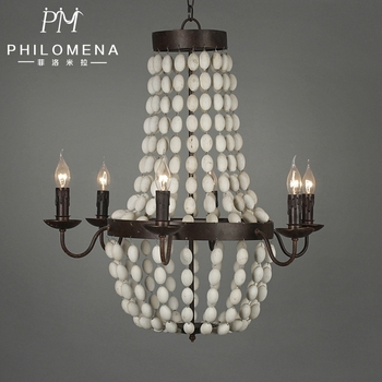 New european vintage wooden beads chandelier 6 lights wrought iron new european vintage wooden beads chandelier 6 lights wrought iron crown pendant lighting with ul mozeypictures Choice Image