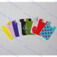 new line Custom made wholesale 3M Cellphone Sticker Silicone Phone wallet pocket