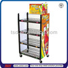 TSD-M072 China factory custom floor 4 tier supermarket wire shelf/metal display stand furniture/shop floor display rack