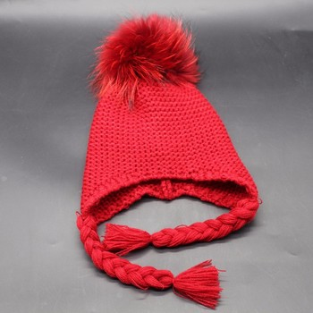 Kids Handmade Crochet Baby Fur Pom Pom Hat Pattern Buy Kids Hat