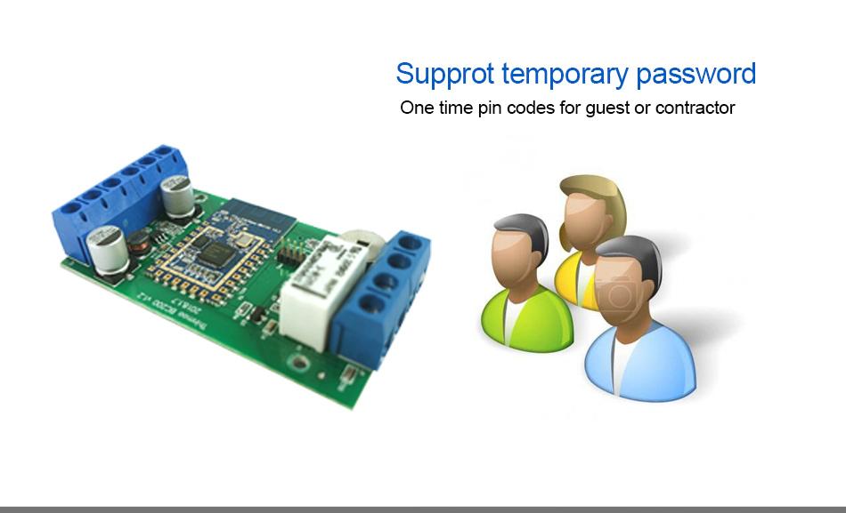 Smart bluetooth & wifi control board home security system wiegand ausgang gerät für rfid tastatur fingerprint kartenleser