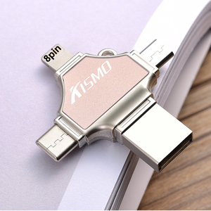 New products 2018 OEM 256GB usb flash drive mobile phone custom gold otg usb flash drive for iphone 5/5s /6/6s/8/x ios