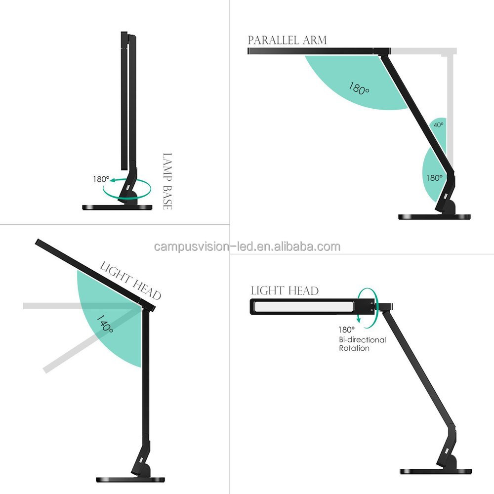Flexible Led Light Table Desk Lamp Touch Sensor Adjustable ...