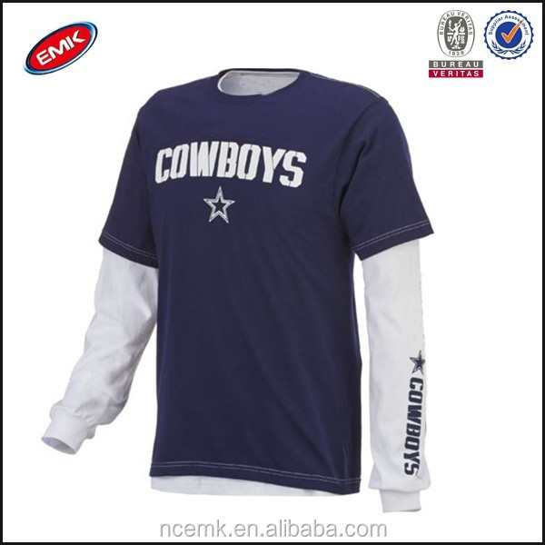 uk availability 2f65a 4f517 Cowboys Long Sleeve T Shirt Extended T Shirt Wholesale - Buy Extended T  Shirt,Plain Long Sleeve T Shirt,Cheap T Shirt Product on Alibaba.com