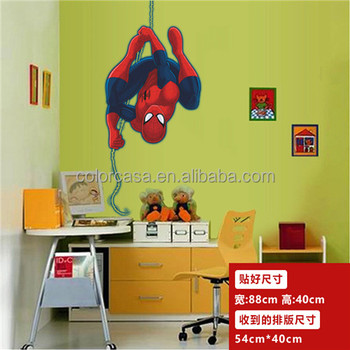 Colorcasa Room Decor 3d Wall Stickers Spiderman Kids Sticker Baby Room Decor Buy Dekorasi Kamar Stiker Dinding 3d Spiderman Anak Anak Stiker Product On Alibaba Com