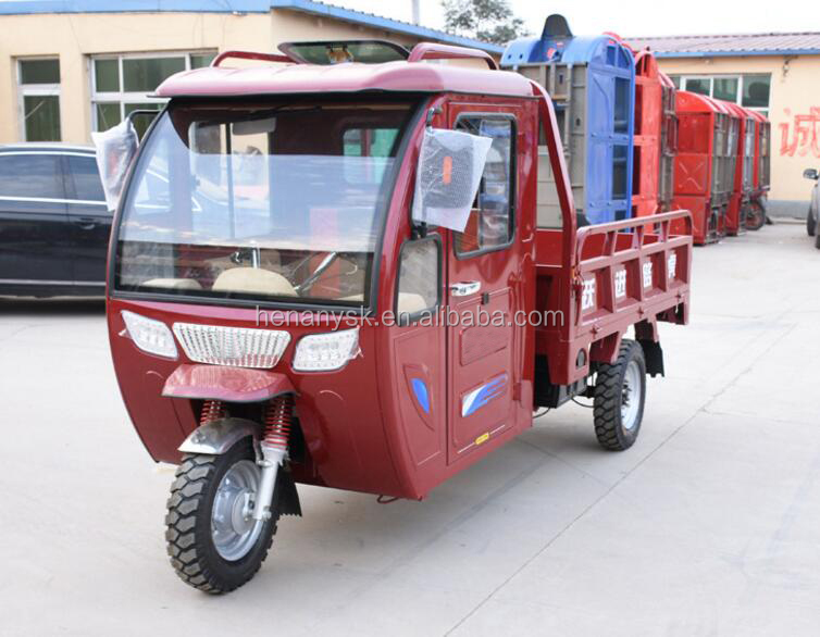 Semi Closed Electric Fuel Tricycle Three-Wheeler With Shed