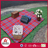 100% Acrylic red check pattern waterproof picnic blanket with Chinese supplier