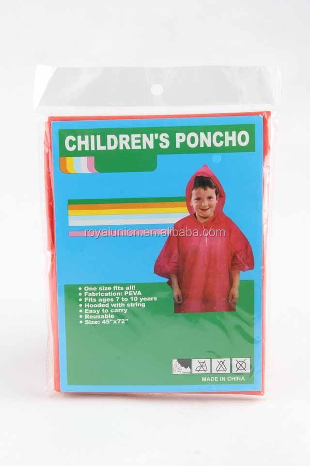 PEVA CHILDREN'S RAIN COAT