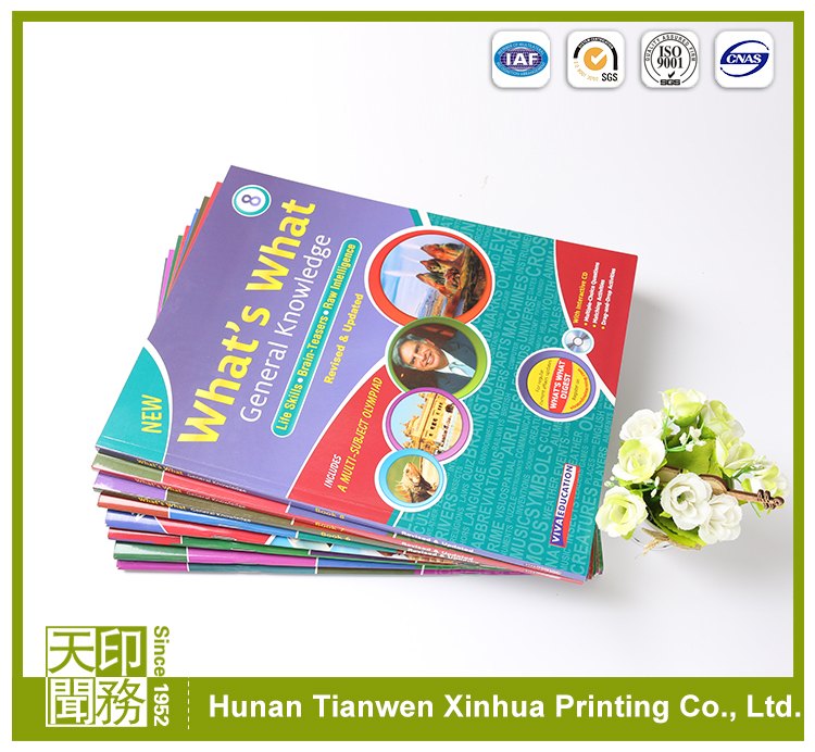 Wholesale High College School Used Brown English spiral bound text book printing