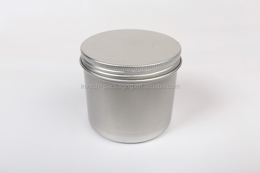 18oz 500gm large food grade tall metal tin aluminum tin,round screw lid tin
