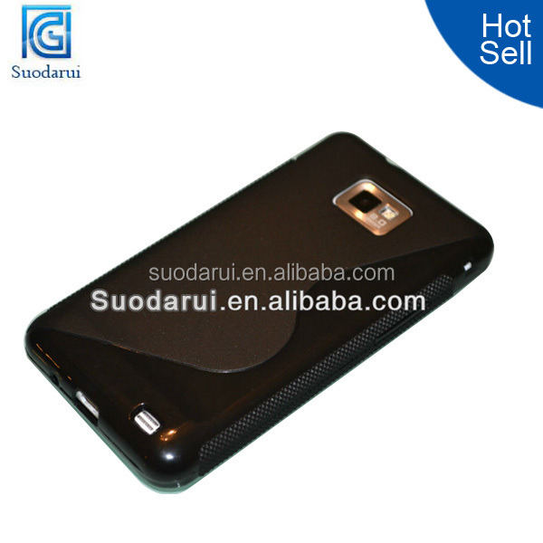 S line TPU Wave Curve Gel Cover Case for Samsung GALAXY S2 I9100